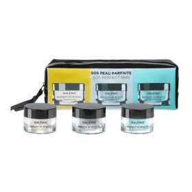 Galenic SOS Perfect Skin Warming Detox Mask, 15ml & Cold Purifying Mask, 15ml & Quenching Hydrating Mask, 15ml