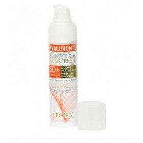 Froika Hyaluronic Silk Touch Sunscreen Cream SPF 50+, Αδιάβροχη Αντιηλιακή Κρέμα Προσώπου, με Αντιρυτιδικούς Παράγοντες, 40ml